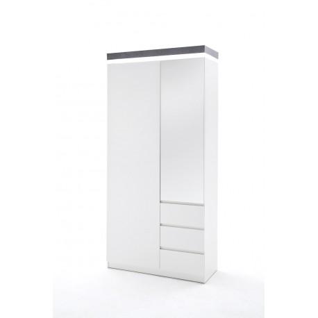 Atena X - lacquered hallway wardrobe with LED lights