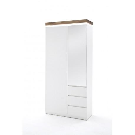 Eris X - lacquered hallway wardrobe with oak top