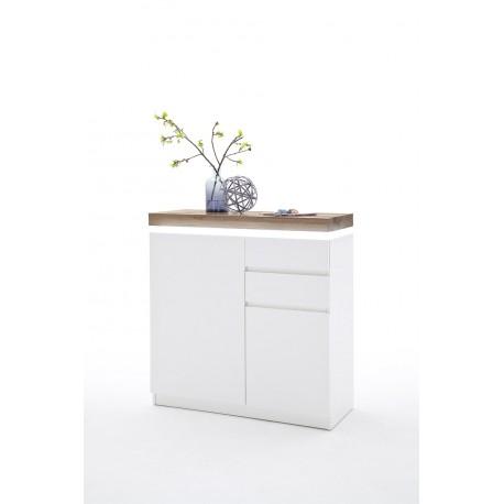 Superieur Eris XI   Lacquered Hallway Shoe Cabinet With Natural Oak Top