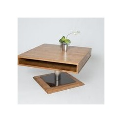 Pia III - solid oak coffee table