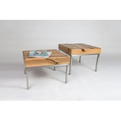 Rene - set of two solid wood side tables