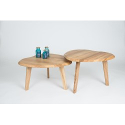 Birte - set of two solid wood side tables