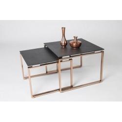 Jona - set of two steel side tables