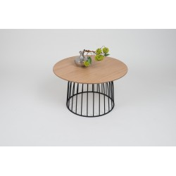 Lona - oak coffee table with metal frame