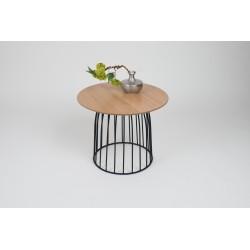 Maila - oak coffee table with metal frame