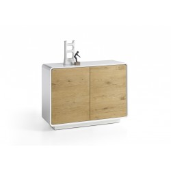 Tulo II - matt lacquer sideboard with oak fronts