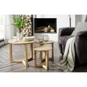 Caya - contemporary nest of 3 tables in oiled oak finish