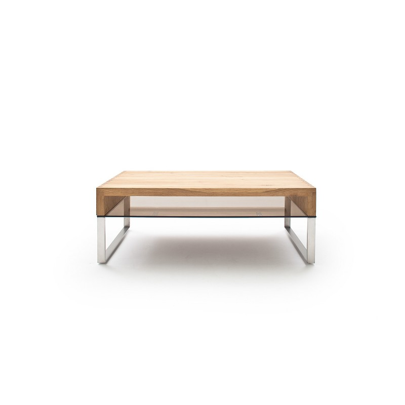Steel Coffee Table Legs Uk: Hilary Oak Coffee Table With Stainless Steel Legs