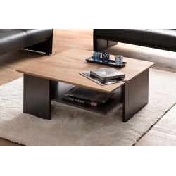 Leon - Oak coffee table with anthracite base