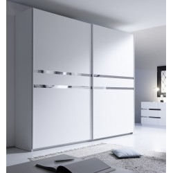 Rex chrome - wardrobe with sliding doors