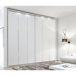 Venere - wardrobe with sliding doors and decorative stripes