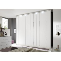 Venere 6 Door matt lacquered wardrobe with decorative inserts