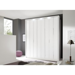 Venere 4 Door matt lacquered wardrobe with decorative inserts