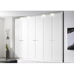 Mare 6 Door matt lacquered wardrobe with decorative inserts