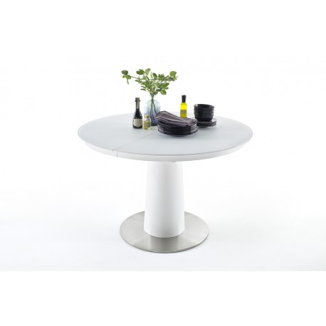 Waris 120-160cm oval extendable dining table