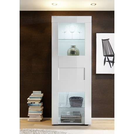 Easy narrow display cabinet in high gloss