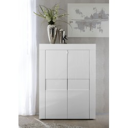 Easy - white gloss highboard
