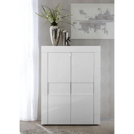 Easy - white gloss highboard