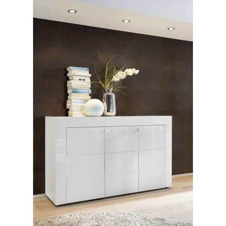 Easy 138cm three door high gloss sideboard