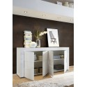 Easy II - 181cm white gloss sideboard with stone imitation fronts