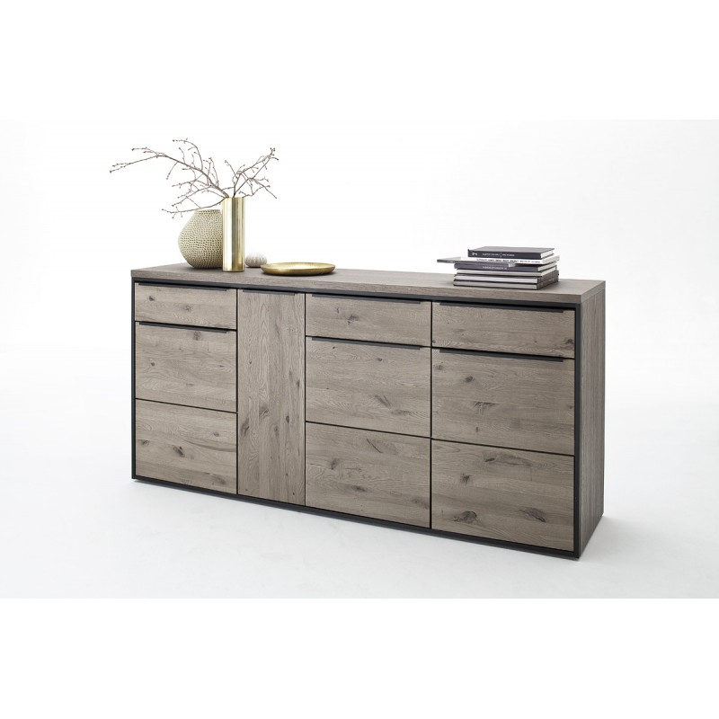 Avignon Assembled Solid Grey Oak Sideboard Modern Wood
