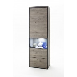 Avignon - solid grey oak display cabinet