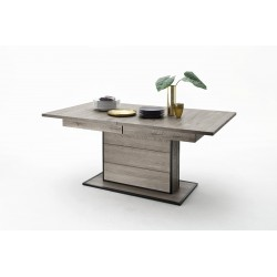 Avignon - grey oak extendable dining table
