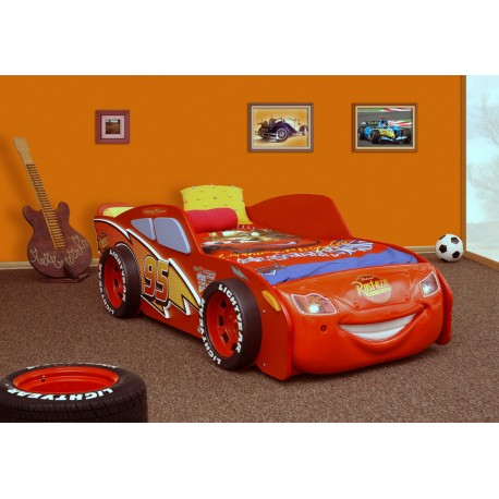 Cars Lighting McQuenn car bed with LED lights