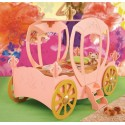 Carriage Bed - Pink MDF