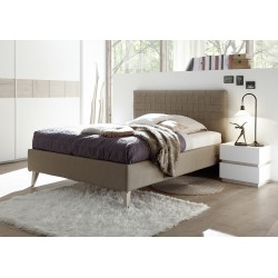 Marte - modern upholstered Italian bed in various colours