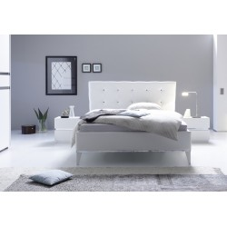 Rex II - modern upholstered Italian bed in various colours