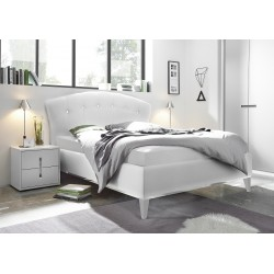 Mario - modern upholstered Italian bed in various colours