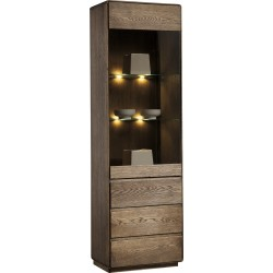 Atlanta I - assembled  solid wood display cabinet in various wood option