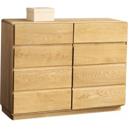 Atlanta - assembled solid wood chest in various wood option