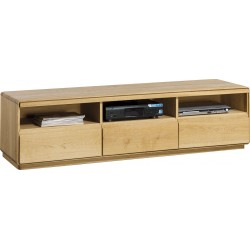 Atlanta II -assembled  large solid wood TV unit in various wood option