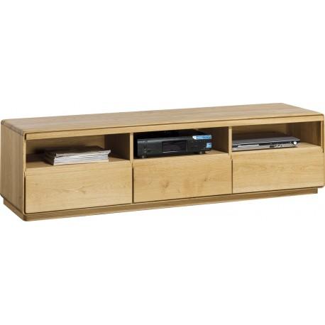 Atlanta II -assembled large solid wood TV unit in various wood option