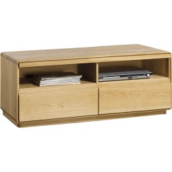 Atlanta I - assembled small solid wood TV unit in various wood option
