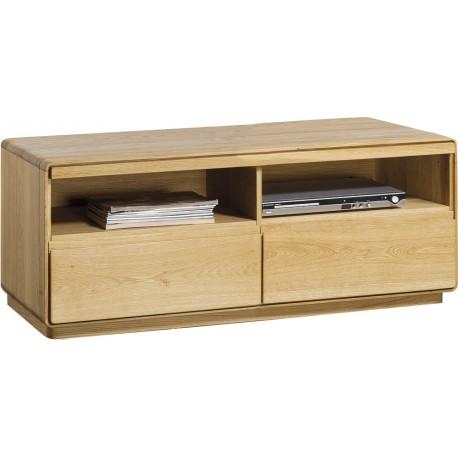 Atlanta I - assembled small solid wood TV unit in various wood option
