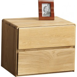 Atlanta - assembled solid wood bedside cabinet in various wood option