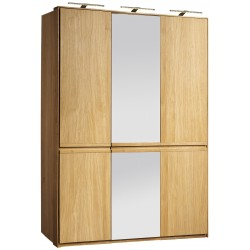 Atlanta I - solid wood 3 door wardrobe in various wood option