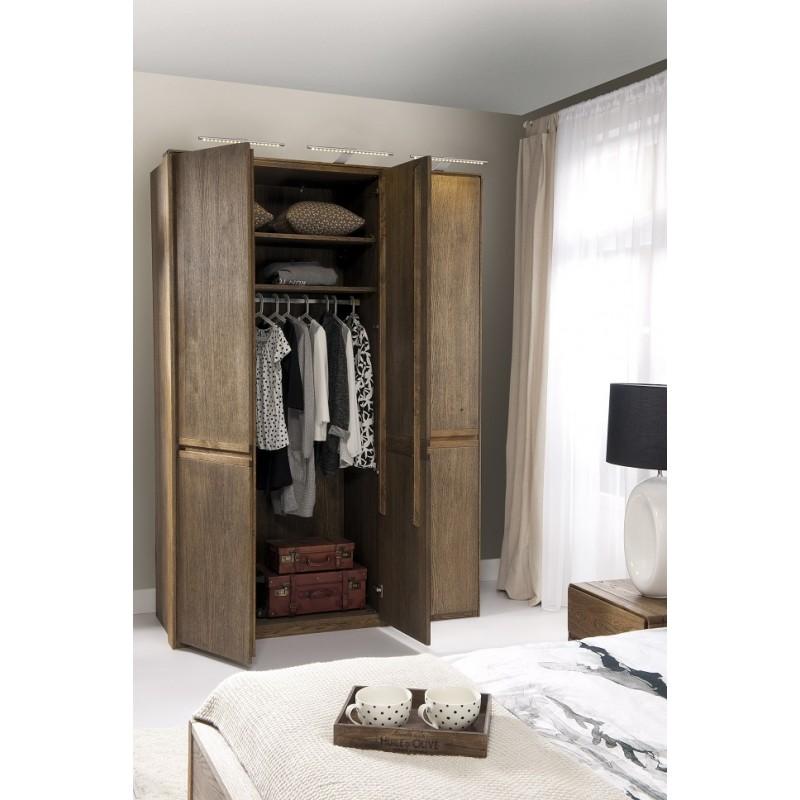 Atlanta I Solid Wood 3 Door Wardrobe In Various Wood