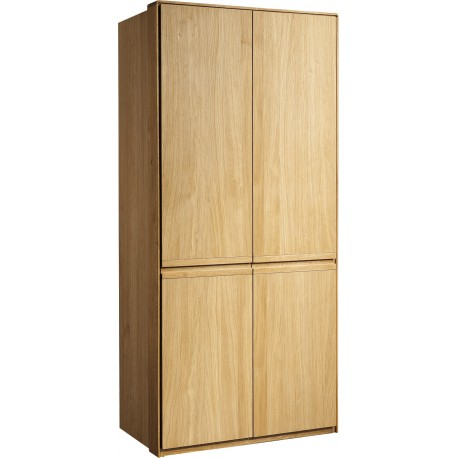 Atlanta II - solid wood 2 door wardrobe in various wood option