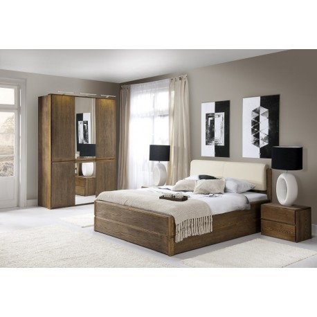 Atlanta - solid wood bed with storage space