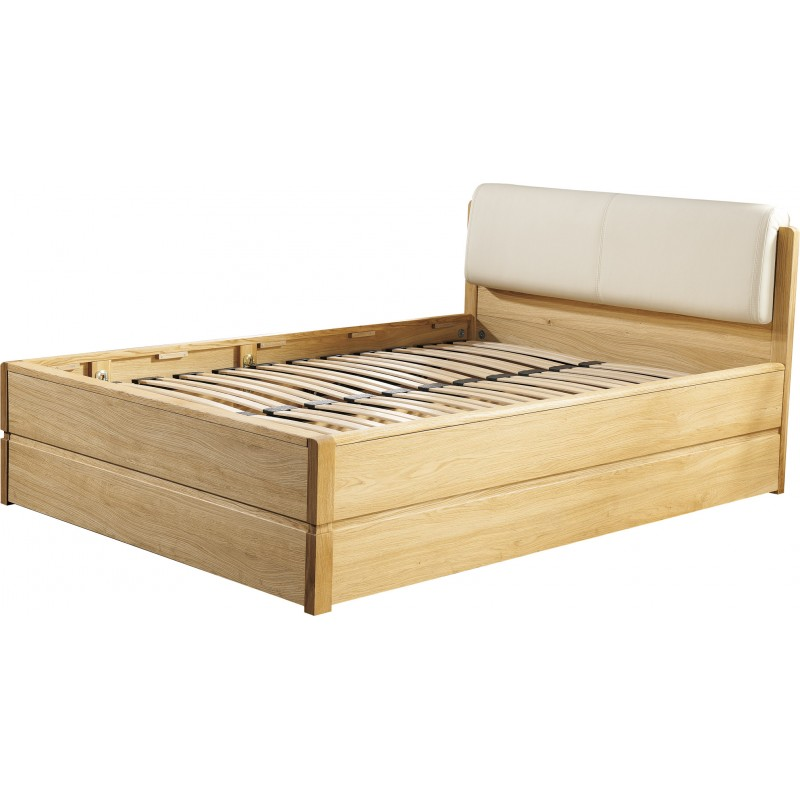 Atlanta Solid Wood Bed With Storage Space Modern Wood