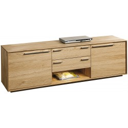 Rio II - large solid wood TV unit in various wood option