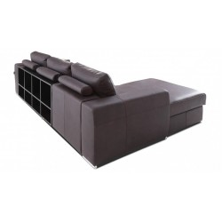Biblio with ottoman - Modular Sofa with Decorative Bookshelves