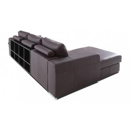 Biblio with ottoman - Modular Sofa with Decorative Bookshelves