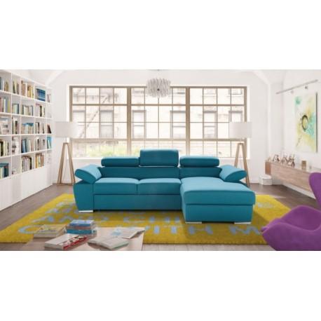 Ricardo with otoman - Modular Corner Sofa with sleeping option
