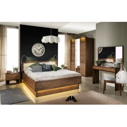 Rio - solid wood bed with storage space with optional LED lights