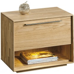 Rio - solid wood bedside cabinet in various wood option with optional LED lights